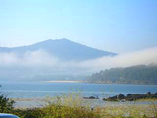 Galician landscape, a mist over Noia's bay